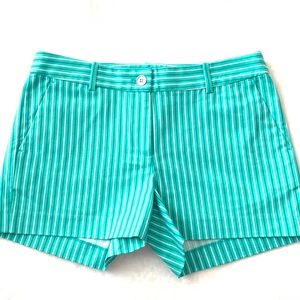 NEW MK Turquoise and White Pinstripe Shorts